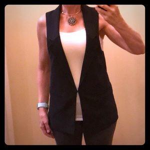 Express Super Cute Black Vest in EUC Size XS